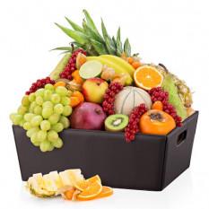 Panier en cuir Fruit exotique