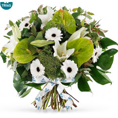 Bouquet Trias White Sparkle - Grand (35 cm)