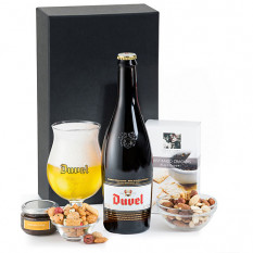 Duvel Belgian Beer et des collations