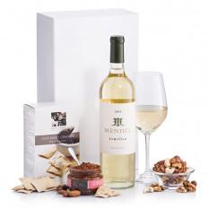 Cadeau Vin blanc et collations
