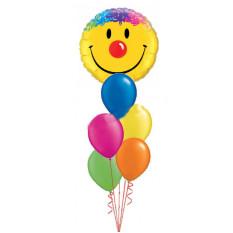 Bouquet de visage de sourire heureux géant