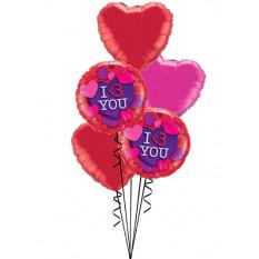 Je t'aime Bouquet de coeurs
