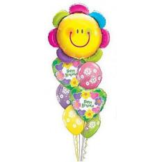 Bouquet drôle de coeurs d'anniversaire de fleur