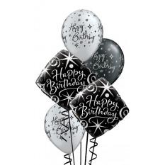 Élégant Sparkles & Swirls Birthday Bouquet
