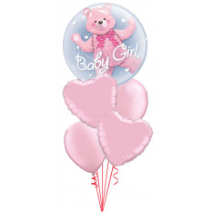 C'est un bouquet de bébé Bubble Girl Double Bear