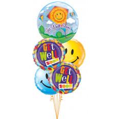 Get Well Bientôt le Bouquet Kite Bubble & Smiles