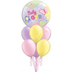 Baby Girl Bubble & Pastels Bouquet