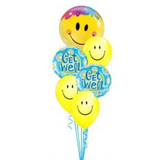 Get Well Bouquet de sourires jaunes