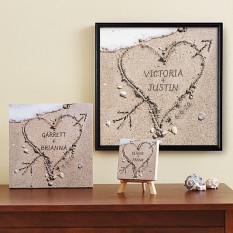 Coeur en toile de sable
