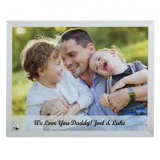 Cadre de message en verre photo familial