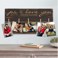 PS I Love You Wall Art de la palette de bois rustique