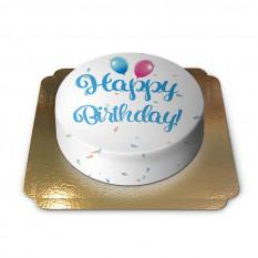 Gâteau d'anniversaire - bleu (petit)