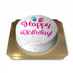 Gâteau d'anniversaire - rose (petit)