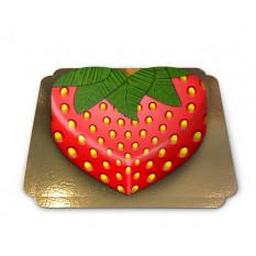 gâteau aux fraises en forme de coeur (Medium)