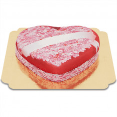 Cakes Amour Message de coeur (grand)