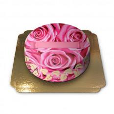 Gâteau décoré de roses (Petit)