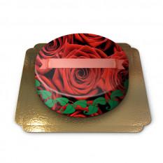 Gâteau aux roses rouges (petit)