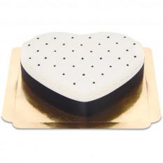 Cake Deluxe Heart Valentine - Noir & Blanc (Moyen)