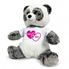 Ours Panda Personnalisé - Coeurs En Couple - 12 Pouces