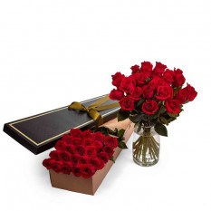 Roses - Rouge - 24 Tiges