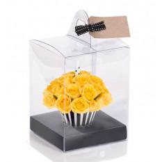 Cupcake jaune d'anniversaire