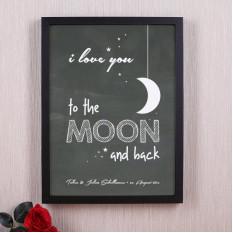 Cadre photo - je t'aime à la lune et retour
