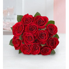 Roses rouges, 12-24 tiges (bouquet de 12 tiges uniquement)