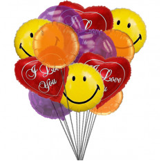 Sourires et ballons d'amour (Ballons 6-Mylar et 6-Latex)