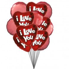 Ballons True Love (Ballons 6-Mylar et 6-Latex)