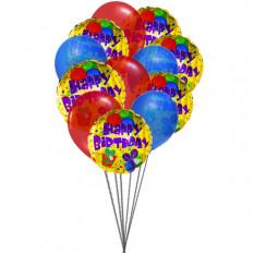 Ballons d'anniversaire Colorfull (6 ballons en latex et 6-Mylar)