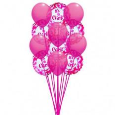 Ballons rosâtres (Ballons 6-Mylar et 6-Latex)