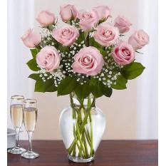 Rose Élégance Premium Roses à longue tige rose (12 tiges rose)