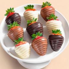 9 fraises enrobées de chocolat Berry Bites (taille amusante)