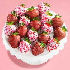 18 Love Bites fraises enrobées de chocolat (taille Fun)