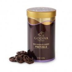 Cannette de bretzel enrobée de chocolat noir, 1 lb