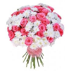 Bouquet de chrysanthèmes roses
