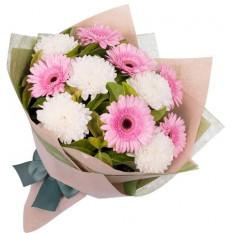 Bouquet Gerbera Et Chrysanthème