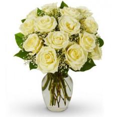 12 Fleur de roses blanches