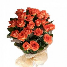 Bouquet de roses orange 18
