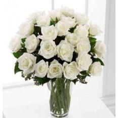24 Fleur de roses blanches