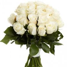 Bouquet de roses blanches 24