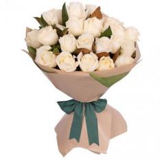 18 bouquet de roses blanches