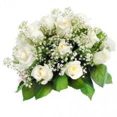 12 bouquet de roses blanches