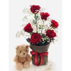18 Bouquet de roses mélangées