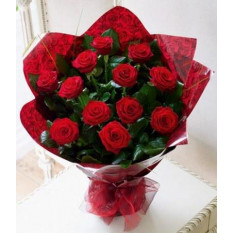 12 bouquet de roses rouges