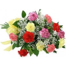 12 bouquet d'oeillets mélangés