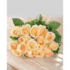 Roses à la crème en papier artisanal