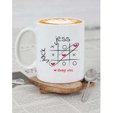 L'amour personnalisé gagne toujours la tasse