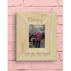 Cadre photo personnalisé pour maman