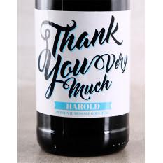 Vin de remerciement personnalisé